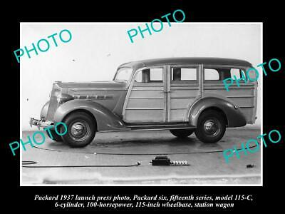 6x4 HISTORIC PHOTO OF PACKARD 1937 SIX STATION WAGON LAUNCH PRESS PHOTO, used for sale  Shipping to Canada