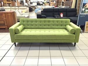 MICHELANGELO 3 SEATER FABRIC SOFA (GREEN) Logan Central Logan Area Preview