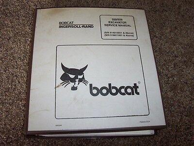 Bobcat 325 328 Excavator Ir Shop Service Repair Manual 514013001- 516611001-