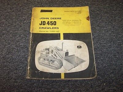 John Deere 450 Crawler Dozer Loader Owner Operator User Guide Manual Omt30066