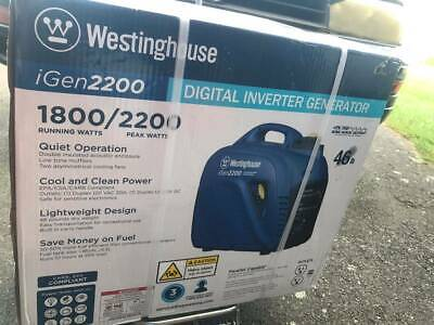 Westinghouse Igen2200w Portable Gas Powered Inverter Generator Home Rv Camping