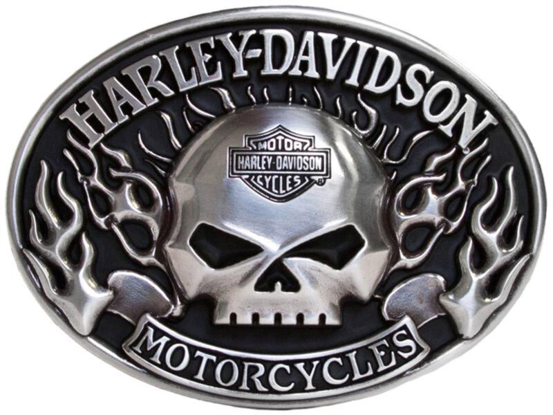 Harley Davidson Mens Willie G Skull with Flames willie g Buckle