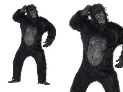 Erwachsene Deluxe Gorilla Kostüm Affe King Kong Herren Halloween - Gorilla Kostüm Halloween