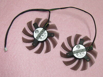 75mm MSI GTX 570 580 R6870 R6950 R6970 Twin Frozr II Dual Fan PLD08010S12HH  R83b