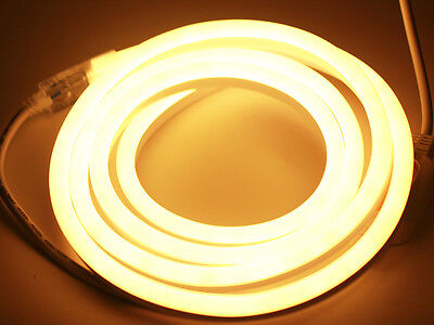 Strip Led Leuchte ( 1-50m neue Neon LED Strip Streifen Leuchte Flexibel diffus 230V Dimmbar Party)