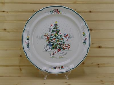 "International China COUNTRY CHRISTMAS Chop Plate / Round Platter 12"" - Japan"