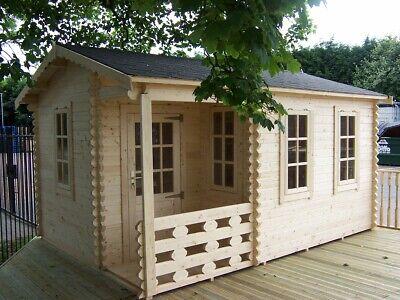3m x 4.2m Garden Office Log Cabin in 28mm logs Summerhouse Garden...