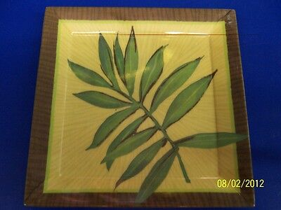 Island Palms Luau Palm Tree Summer Pool Theme Party Melamine Snack Tray - Frond