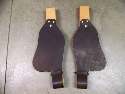 Saddle Replacement Fenders with Stirrup Leathers Youth or Adult Size Dark Brown