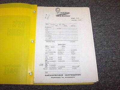 Ph R125 Rough Terrain Crane Factory Original Parts Catalog User Manual Book
