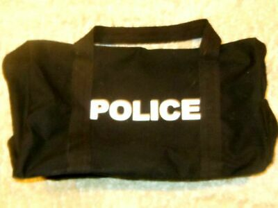 Black Double Sided Police Logo Equipment Gear Bag 24x15x13 8116