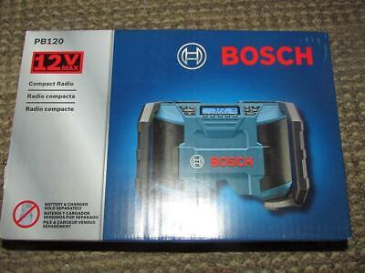 Bosch PB120 12-Volt Max Lithium-Ion Compact AM/FM Radio w AUX PORT