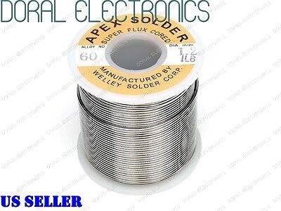 1.2mm 1.0 Lb 453g 6040 Rosin Core Flux Tin Lead Roll Soldering Solder Wire 1lb