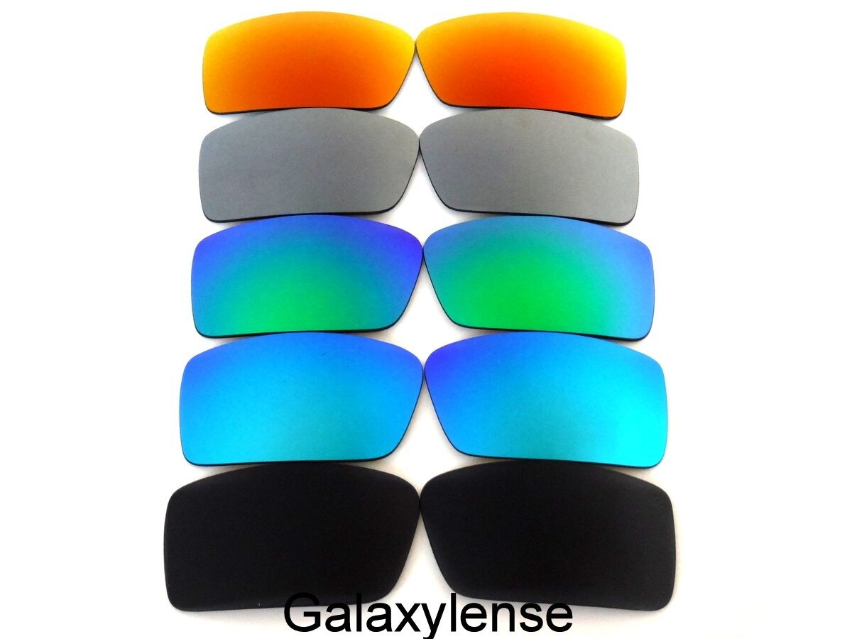 54ada57403 NEW OAKLEY GASCAN SMALL BLACK   BLUE   GREEN   TITANIUM   RED COLOR POLARIZED  REPLACEMENT LENSES 5 PAIRS