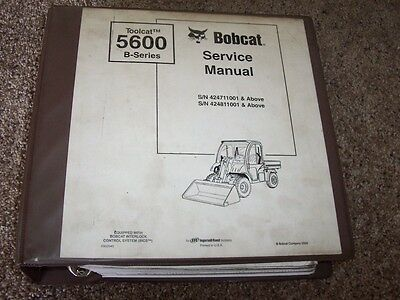 Bobcat Ingersoll Rand 5600 B Series Toolcat Atv Shop Service Repair Manual