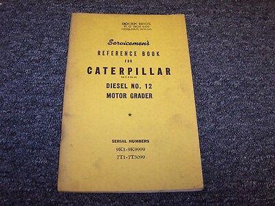 Cat Caterpillar 12 Road Motor Grader Shop Service Repair Reference Manual Book