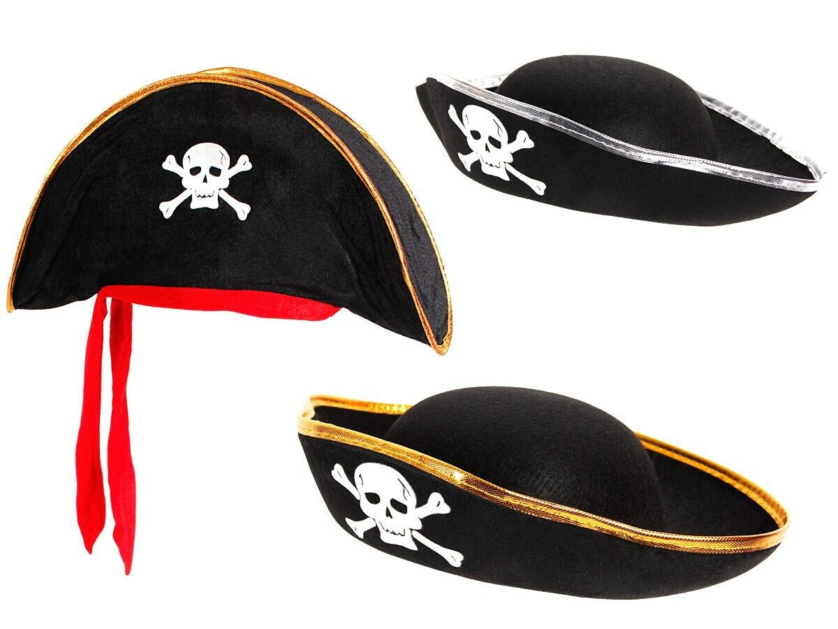 Piratenhut für Kinder Seeräuber Totenkopf Piratenparty Kostüm Hut Pirat Karneval