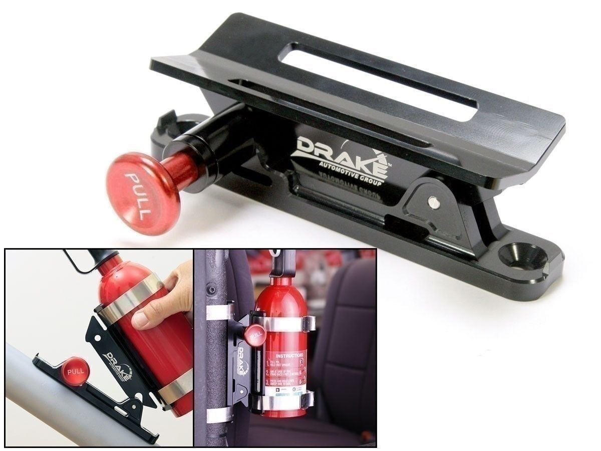 Automotive Fire Extinguisher >> Details About Fire Extinguisher Mount Black Mustang And Classic Car Safety Scott Drake