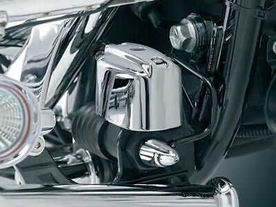 Deluxe Master Cylinder Cover (Kuryakyn Chrome Deluxe Rear Brake Master Cylinder Cover Harley Touring Softail )