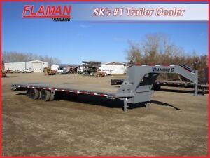 Diamond C 32' Gooseneck Equipment Trailer - 2x 10000 lb Axles!