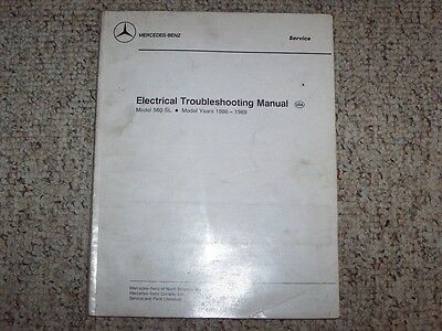 1988 Mercedes Benz 560SL 560 SL Electrical Wiring Diagram Troubleshooting Manual