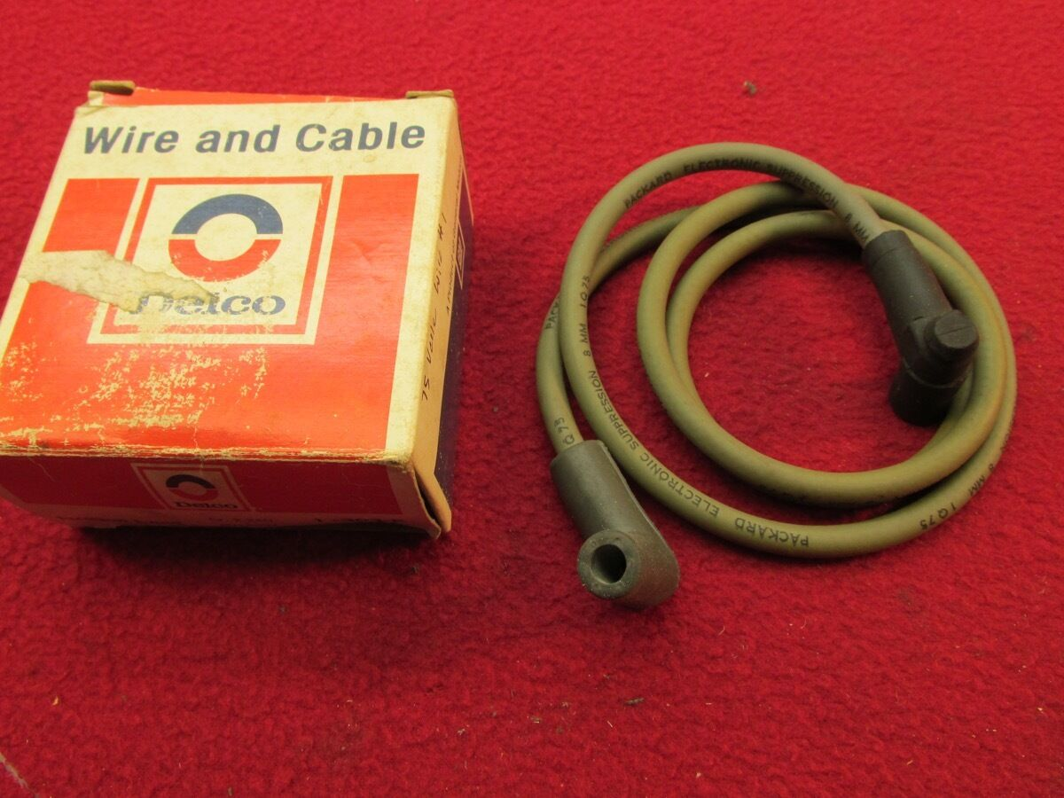 NOS 75 VETTE ENGINE SPARK PLUG WIRE AND CABLE #1 GM# 8914094