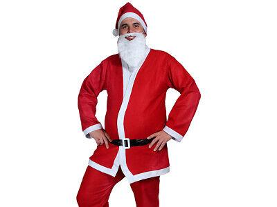 Weihnachtsmann Kostüm Verkleidung Santa Claus Nikolauskostüm 5tlg.Set Alsino - Weihnachten Santa Kostüm Set