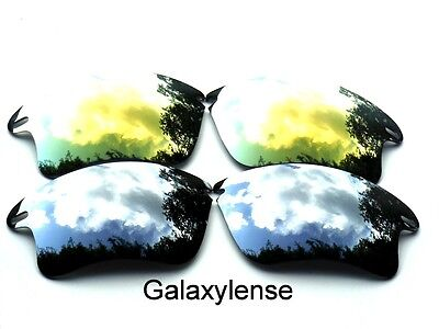 Galaxy Replacement Lenses For Oakley Fast Jacket XL Sunglasses Titanium&Gold  for sale  Shipping to India