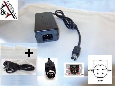 Netzteil 12V 5V für externe Gehäuse Festplatte Laufwerk Teac PA0362ZI-8-A02 4Pin