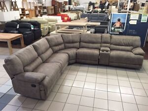 FABRIC CORNER LOUNGE SUITE W/3 RECLINERS Logan Central Logan Area Preview