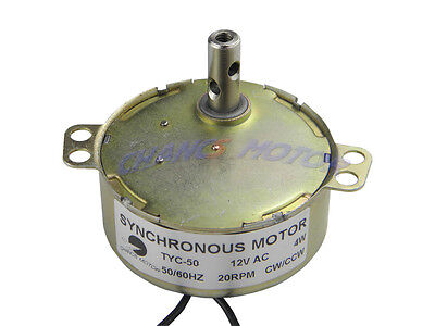 Ac Motor Repair 12v 20rpm Small Synchronous Motor Cw Ccw Tyc50 Gear Motor Stock