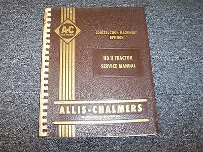 Allis Chalmers Hd11 Crawler Tractor Service Repair Shop Manual Diesel 8.5l