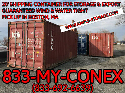 20 Shipping Container - Cargo Worthy - Boston Ma