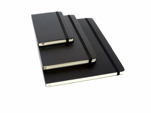 """Moleskine Classic Notebook, Hard  (4.5"""" x 7.25"""") Ruled/Lined, BLACK-SMALL ONLY!!"""