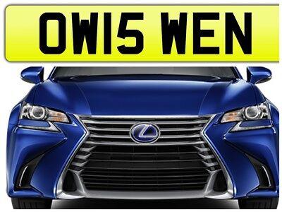 OWEN PRIVATE NUMBER PLATE CAR REGISTRATION OW15 WEN✔️OWENS OWEN✔️2015 CARS ON
