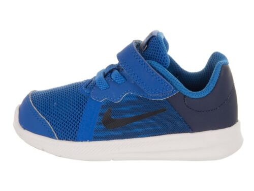 NIKE Toddlers Downshifter (TDV) Blue Nebula/Navy Running Shoe # 922856-401