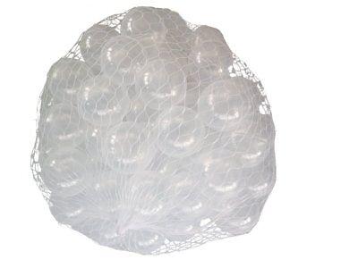 1000 Bällebad transparente Bälle 55mm transparent Farben Baby Kind Spielbälle ()