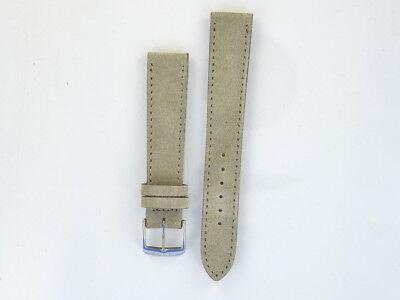 NOMOS Veloursleder Beige Lederband 18 mm  5877.M