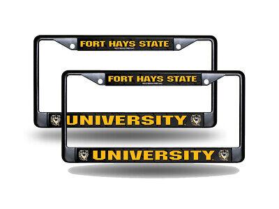 Fort Hays State Tigers NCAA Black Metal (2) License Plate Frame (Hays State Tigers)