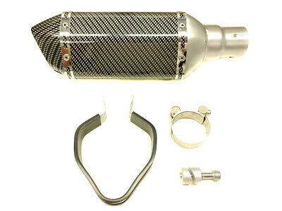 R6 06-2020 Carbon Fiber Look Shorty Race Exhaust Slipon NEW