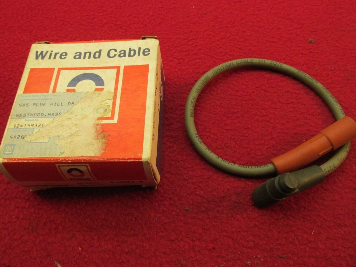 NOS 75 76 77 VETTE ENGINE SPARK PLUG WIRE AND CABLE #8 GM# 12002103