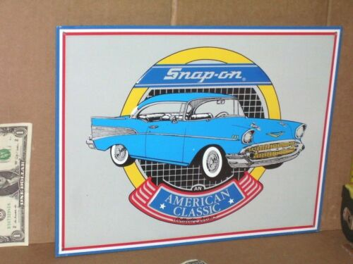 SNAP-ON TOOLS ------ 1957 Chevrolet ----- SIGN ------- SHOWS Early CHEVY BEL-AIR