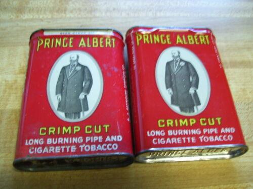 Pair of Vintage Prince Albert  Pocket Tobacco Tins