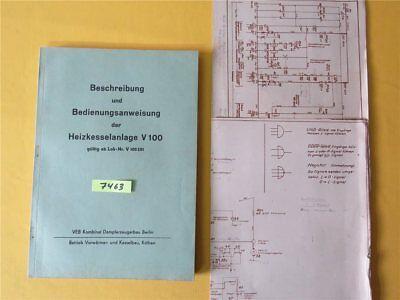 Beschreibung Bedienungsanleitung Heizkeselanlage V 100 ab Lok V 100 201 DR DDR
