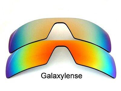 Gebraucht, Galaxis Ersatzgläser für Oakley Oil Rig Sonnenbrille Rot & Gold Polarisierend gebraucht kaufen  Versand nach Germany