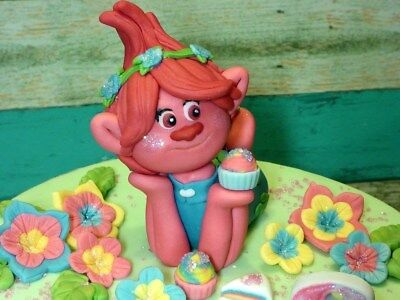 Edible Princess Poppy Trolls  Birthday Handmade Cake Topper