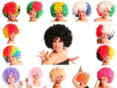 XXL Afro-Perücke bunt Atze Party Karneval Kostüm 70er 80er Fasching Disco Kostüm