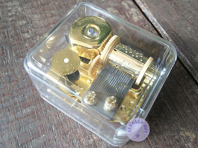 """Play """"Canon in D Major"""" Acrylic Wind up Music Box With Sankyo Musical Movement"""