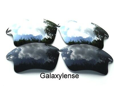 Galaxy Replacement Lenses For Oakley Fast Jacket XL Sunglasses Black&Titanium  for sale  Shipping to India