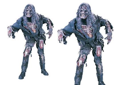 Komplette Zombie Kostüm (Komplette Zombie + Maske Erwachsene Halloween Kostüm Horror Kostüm Herren Outfit)